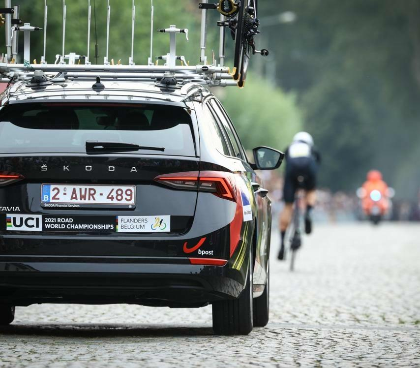 ŠKODA Import Belgium is the official car supplier of the  cars for the 2021 UCI Road World Championships