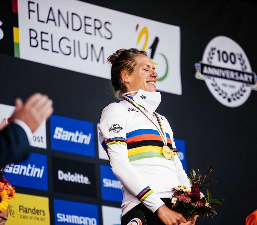 Van Dijk clinches second career time trial title